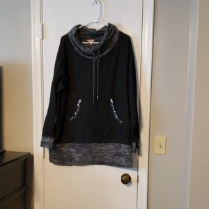 Juicy couture cowl neck shirt with sequined detail